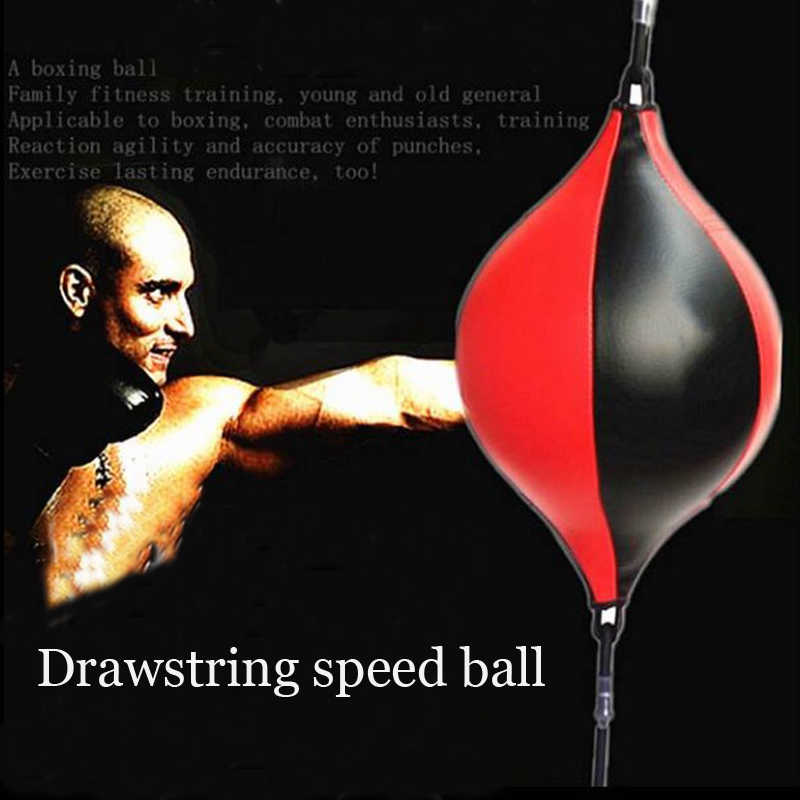 PU Boxing Training Punching Bag Fitness Muay Thai Double End Boxing Speed Ball Pear Inflatable Boxing Equipment Bodybuilding