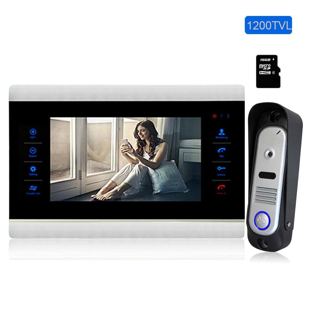 Homefong 10 видеодомофон дверной телефон домашний Интерком 1200TVL передняя дверь монитор система межразговорный дверной звонок от 1 до 1