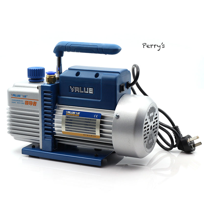 220V 50Hz 1L Electrical Rotary Vane Vacuum Pump Laboratory Use Air Suction Vacuum Packing 1l s 2 12cfm r134a rotary vane single stage mini vacuum pump for vacuum refrigeration air conditioning refrigerator