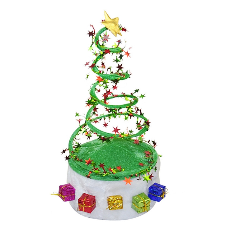 296aa718e8842 1pc Creative Spiral Non woven Christmas Hat Party Supplies Funny Christmas  Theme Clothes Accessories Decorative Christmas Hat-in Christmas Hats from  Home ...