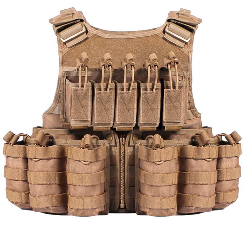 Detachable 600D Nylon Molle Tactical Vest Tops Outdoor Hunting Shooting Camping Training CS Field Combat Armor Gear Waistcoat upgraded version of the cs special tactical vest vest american field equipment thickening tactical vest