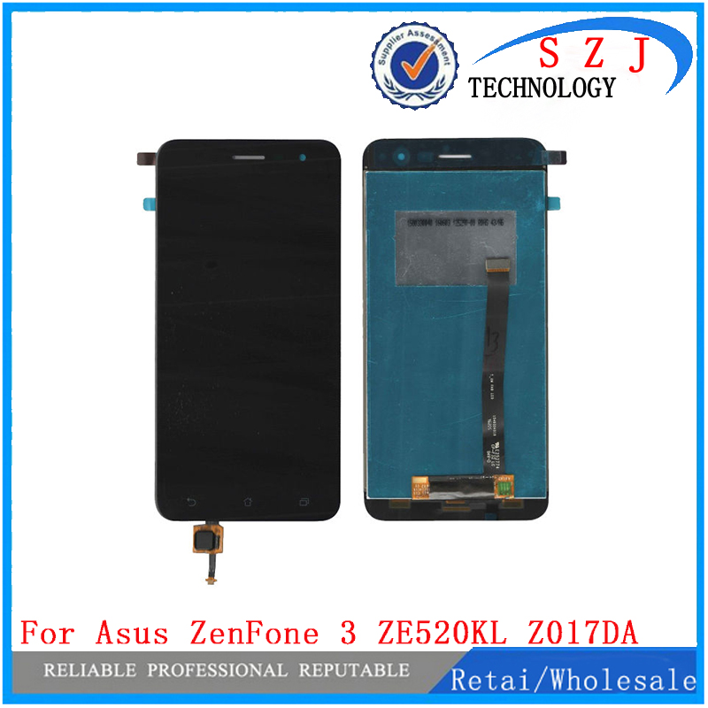 New 5.2'' inch For Asus ZenFone 3 ZE520KL Z017D Z017DA Z017DB LCD DIsplay + Touch Screen Panel Digitizer Assembly Replacement new 5 5 inch full lcd display touch screen digitizer assembly replacement for asus zenfone 3 zoom ze553kl free shipping