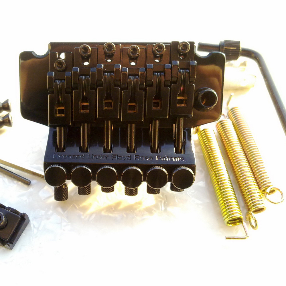 NEW Double swing bridge Special Electric Guitar Locking Tremolo Bridge BL-005 Black black bridge