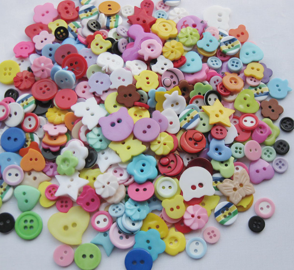 50pcs Lots Mix Assort Plastic Buttons Scrapbooking Sewing Craft