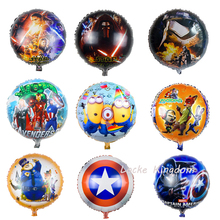 Lucky 18 inch Cartoon Star Wars&Captain America&Zootopia Balloon Foil Helium Balloons Birthday Party Decorations Globos Toys