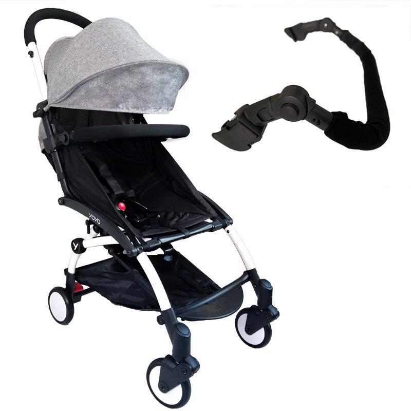 Baby Stroller Armrest Hard Front Handrail Oxford Cloth Adjustable Bumper Bar For Yoya Yoyo Babytime Stroller Accessories