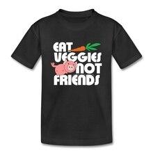 """""""Eat Veggies not Friends"""" kid t-shirt"""