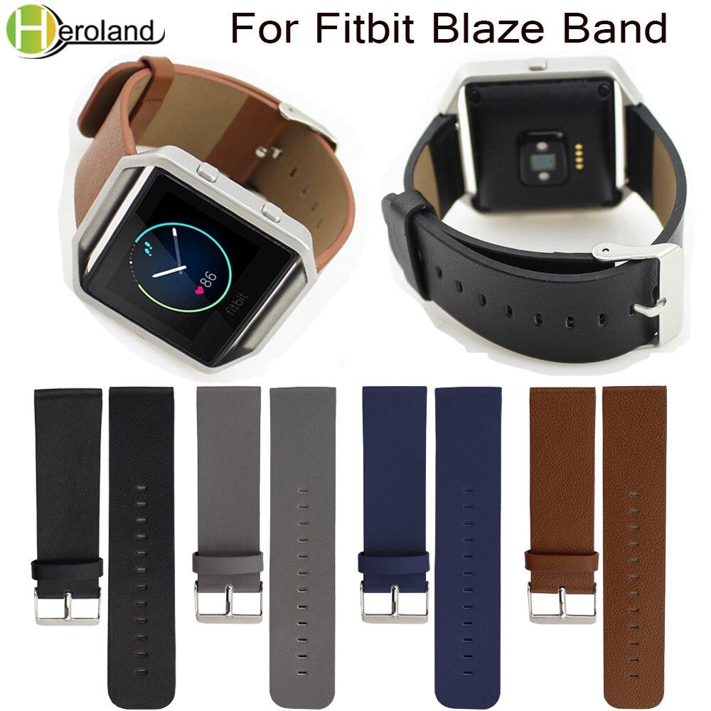 Watchstrap Genuine PU Leather Watch Band Wrist Strap For Fitbit Blaze Smart Watch Strap Genuine Replacement Accessories Fashion