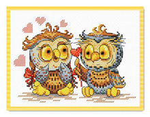 Needlework  14CT 16CT Cross Stitch, DIY Count Embroidery Set, Owl lovers