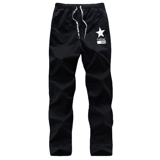 Повседневные брюки мужчины брюки мужская одежда хип-хоп спортивные штаны классический письмо длинные брюки чинос мужские спортивный костюм днища