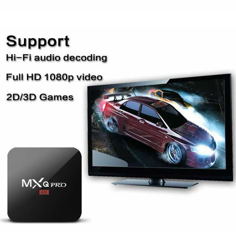 2018 android box  Smart tv box set top box  1G DDR3  100M  Android  8GB eMMC Mali 450 penta core Support 4K 2K-in Set-top Boxes from Consumer Electronics