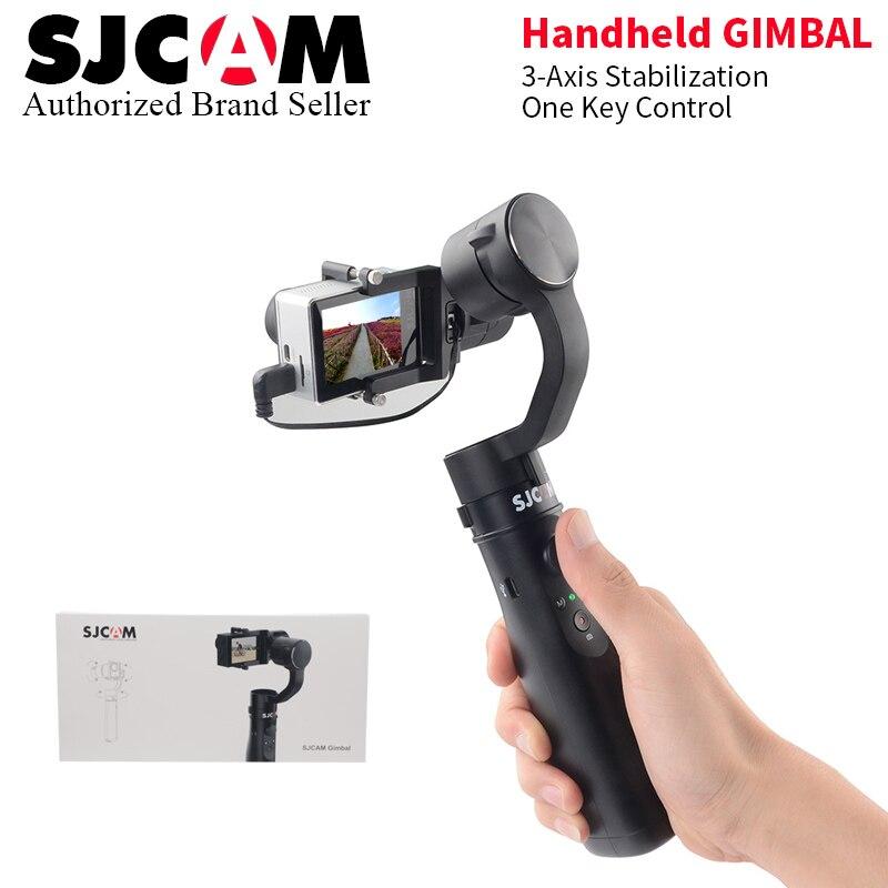 2018 SJCAM Accessories SJCAM SJ 7 STAR SJ6 legend Handheld 3-Axis Gimbal Stabilizer built-in Battery supply for sjcam cam new arrive sjcam sj7 star sj6 legend accessies 3 axis handheld gimbal for sjcam sj6 sj7 star wifi series cam