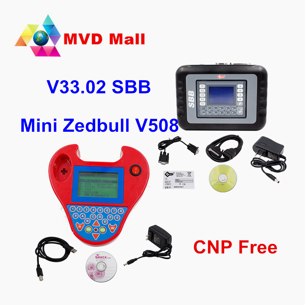 Цена за Best качество Silca SBB V33.02 Auto Key Программист + Новые V508 Мини Zedbull ключ транспондера ZED ключевых клон быка Pro Zed-BULL