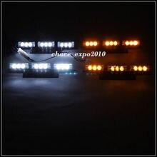CYAN SOIL BAY 4×9 LED Amber/White Car Police Emergency Flash Strobe Light 3 Flashing Modes 12V