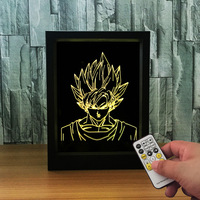 Dragon Ball Photo Frame 3D Lamp 7 Color Changing RGB Night Light Acrylic Dragon Ball Z 3D Table Lamp for Christmas Gift