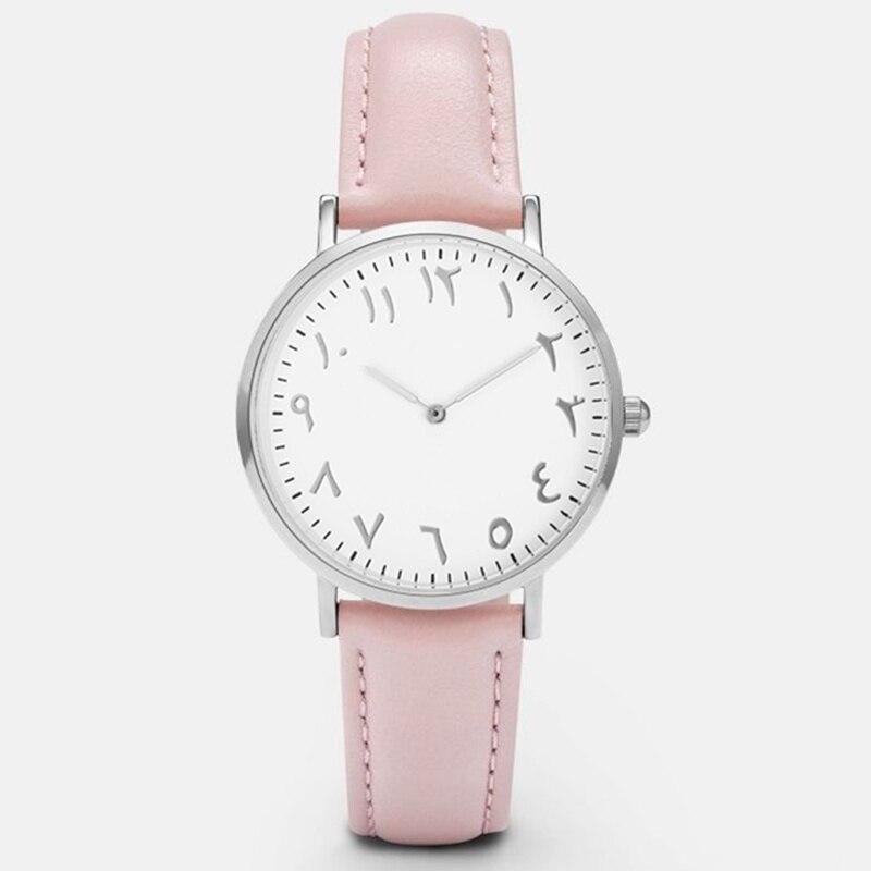 2017 fashion arabic numbers women watch top luxury brand quartz wristwatch lady leather watch for Celebrity watches female 2017