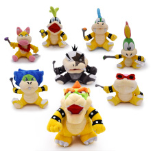 8 pcs/lot Anime Super Mario Bros Koopalings Larry Wendy Iggy Lemmy Roy Ludwig Morton Jr Peluche Doll Plush Soft Stuffed Baby Toy