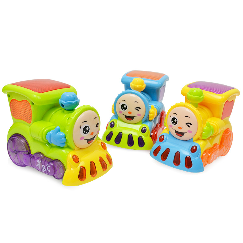 Baby Toys Smart Train Electric Cartoon Mini Locomotive Toy with Light & Music Learning Educational Toy for Child Birthday Gift