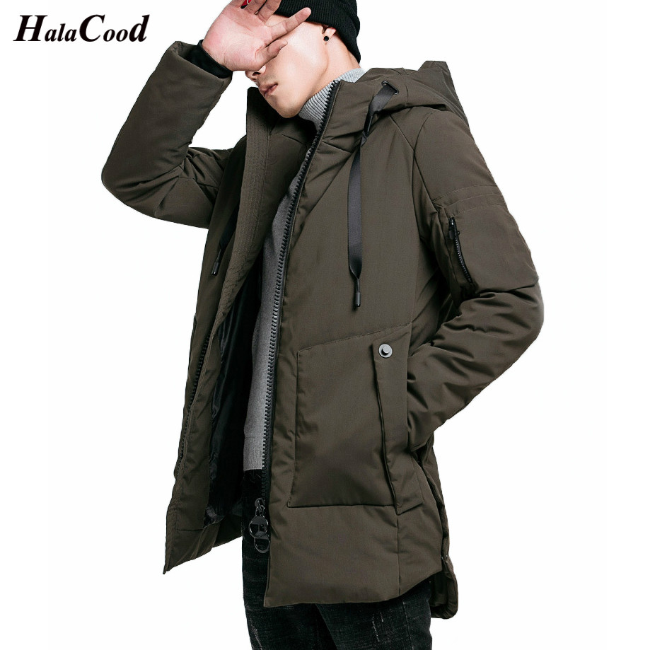 HALACOOD Brand 2018 High Quality Plus Size 4XL Army Green Winter Jacke Man Homme Cotton Mens   Parka   Mens Winter Jackets And Coats