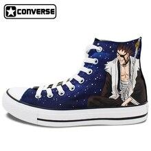 Anime Converse Chuck Taylor Custom Shoes Bleach Kurosaki Ichigo Kenpachi Design Hand Painted Shoes Men Women Sneakers