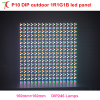High Brightness P10 DIP Outdoor Full Color Module Use For Outdoor Huge Advertising Screen With Long