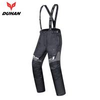 DUHAN Men Motorcycle Pants Waterproof Cold proof Autumn Winter Motorbike Moto Pants Motocross Suspender Trousers Protective Gear
