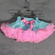 Юбка-пачка; юбки для маленьких девочек; светло-голубая и розовая резинка; Одежда для маленьких девочек; одежда для дня рождения