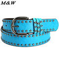 2017 New Korean Women Belts Luxury Brand Punk Leather Elastic Belt Woman Wild Fashion Ceinture Homme Wholesale