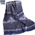 El 2016 de invierno producto de lujo doble de seda bufandas hombres bufanda larga bufanda de la impresión 20 color tamaño: 28 cm * 160 cm 50