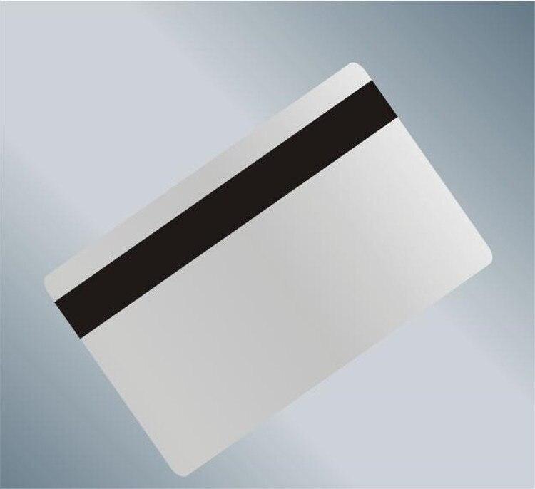 100 unids/lote en blanco Tarjeta de banda magnética de PVC Hola-Co 3 pista magnética Tarjeta de apoyo MSR alta resistencia dispositivo