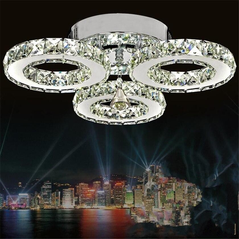 Хрустальные люстры 3 кольца современный Led Люстра потолочная домашнего освещения для Bedroon блеск плафон потолочный освещение Abajur