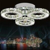 Crystal Ceiling Lamps 3 Rings Modern Led Chandelier Ceiling Home Lighting For Bedroon Lustre Plafond Ceiling lighting Abajur