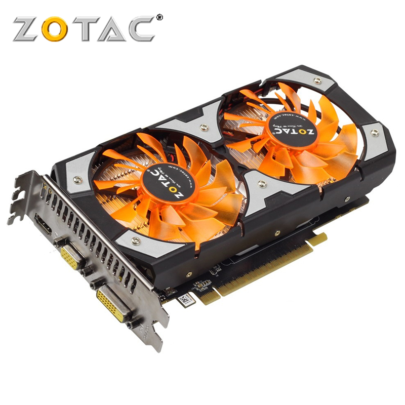 ZOTAC GTX originais 750Ti 2 GB Placa Gráfica GPU VGA Para Placas De Vídeo nVIDIA GeForce GTX 750 Ti 2 GB mapa HDMI VGA DVI PCI-E X16