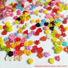 1000PCS/lot About 6mm Mixed Style Mini Resin Tiny Buttons Craft Sewing Tools Button Scrapbooking DIY Decorative