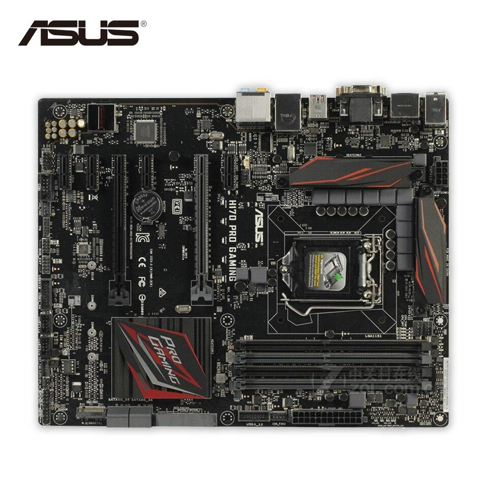 Asus H170 PRO GAMING Desktop Motherboard H170 Socket LGA 1151 i7 i5 i3 DDR4 32G SATA3 ATX
