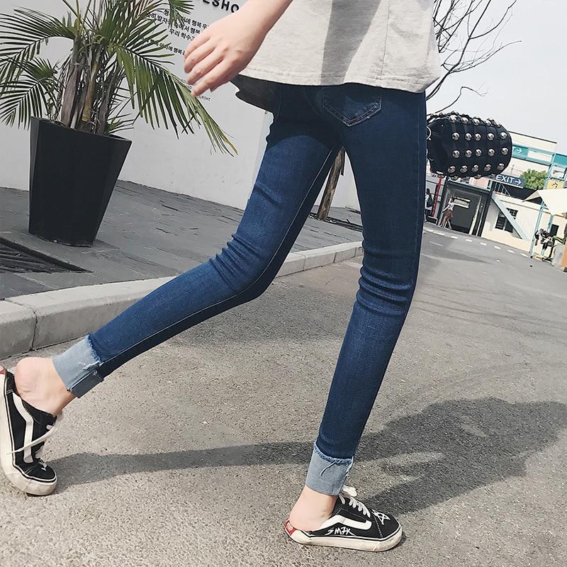 2018 DN новые модные джинсы для женщин средняя талия высокая талия джинсы для эластичные узкие джинсы тонкий женский 8N35