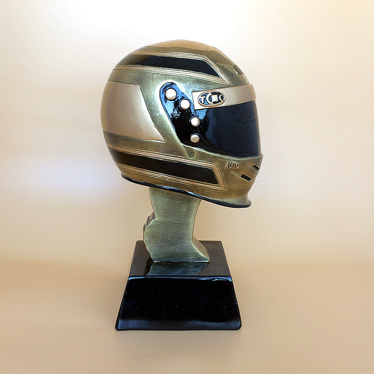 The New Racing Helmet Trophy Motorbike Racing Resin Trophy, Trophies