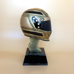 Trofeo de resina para casco de carreras, trofeos
