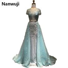 Real Sample Lace Appliques Dubai Arabic 2016 New Lux Evening dresses Formal Gowns robe de soiree