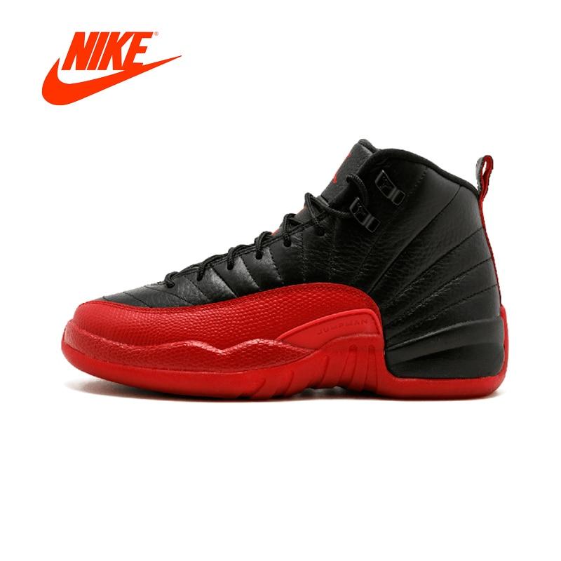 Original New Arrival Authentic NIKE Air Jordan 12 Retro BG AJ 12 Women's 153265-002 Basketball Shoes Sneakers Breathable Outdoor спортивная футболка air jordan jordan in the air gs aj