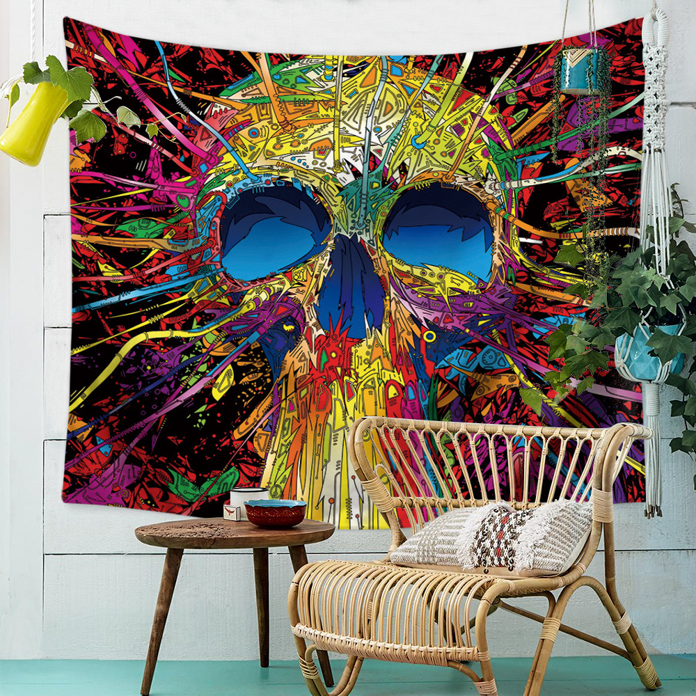 New Halloween Skull Tapestry Multifunction Home decoration background cloth Beach towel tablecloth curtain polyester Tapestry