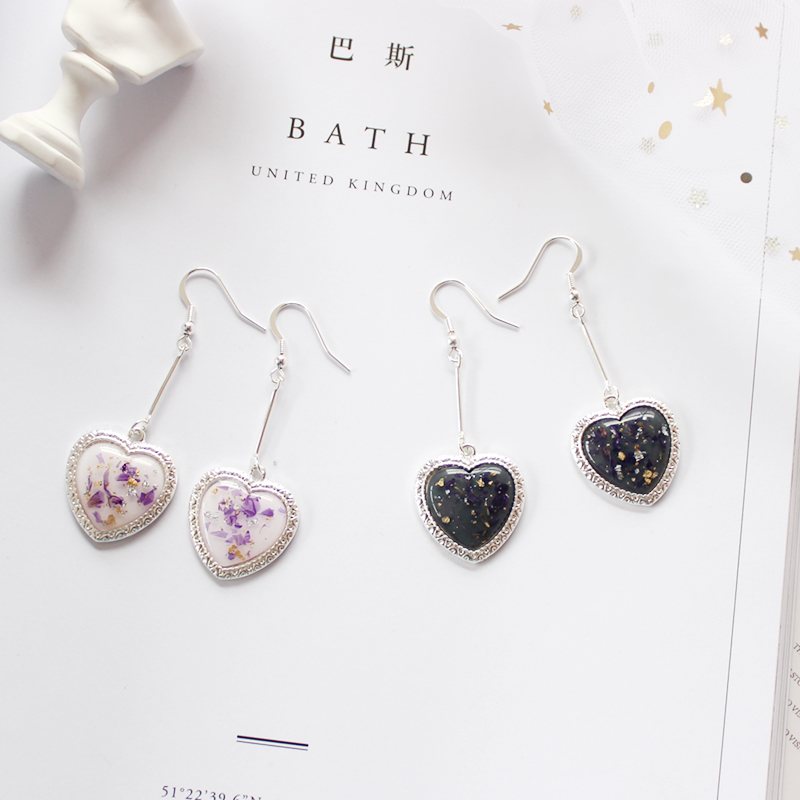 Jewelry Day Ins Girl Heart Petal Lace Love Fashion Ear Rings Earrings Brincos For Women Pendientes Punk Flowers