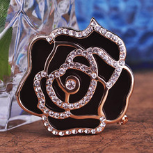 High Quality Rose Flower Scarf Buckle For Womans Collares Broches Bijoux Broaches Esmalte De font b