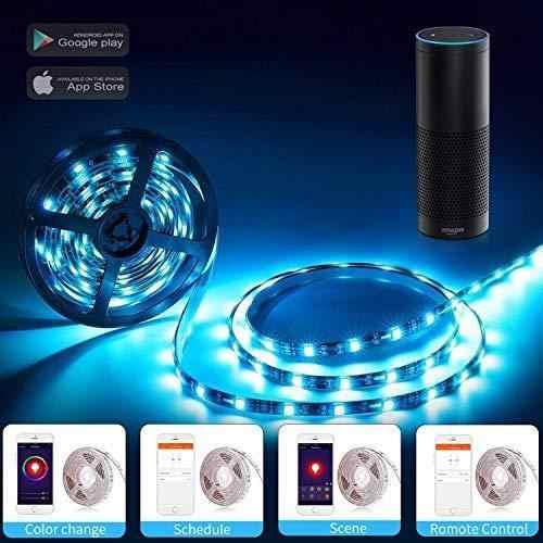 WiFi беспроводной умный телефон Управление светодиодный 2 м 60 единиц SMD 5050 Светодиодный s водонепроницаемый 2 м 60 единиц SMD 5050 Светодиодный s Водонепроницаемый IP65 светодиодный
