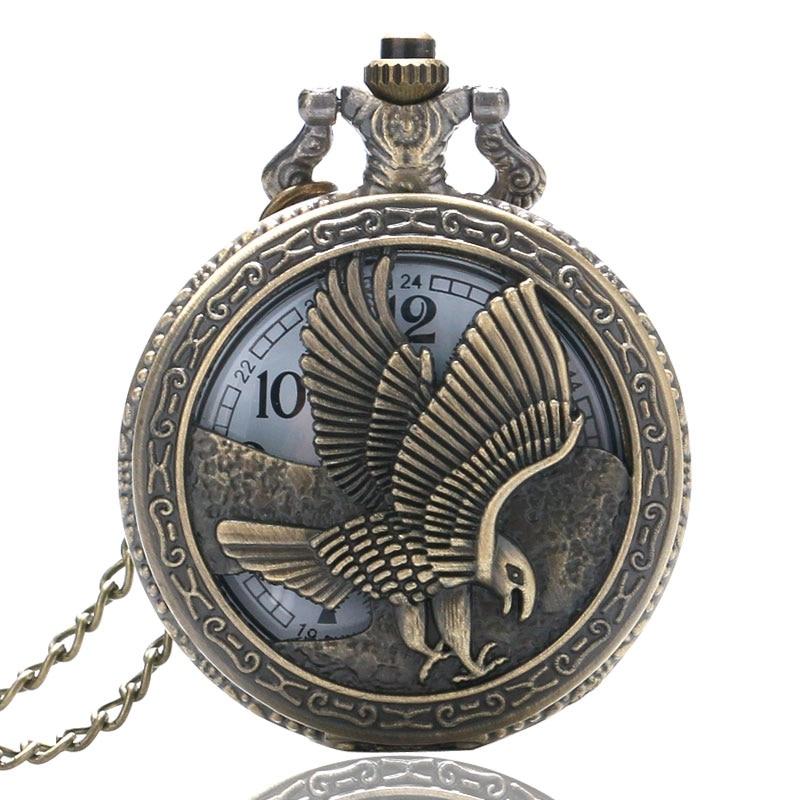Vintage Animal Owl Pattern Women Quartz Pocket Watch Retro Nursing Clock For Men Women Watches Gifts Relogio Feminino