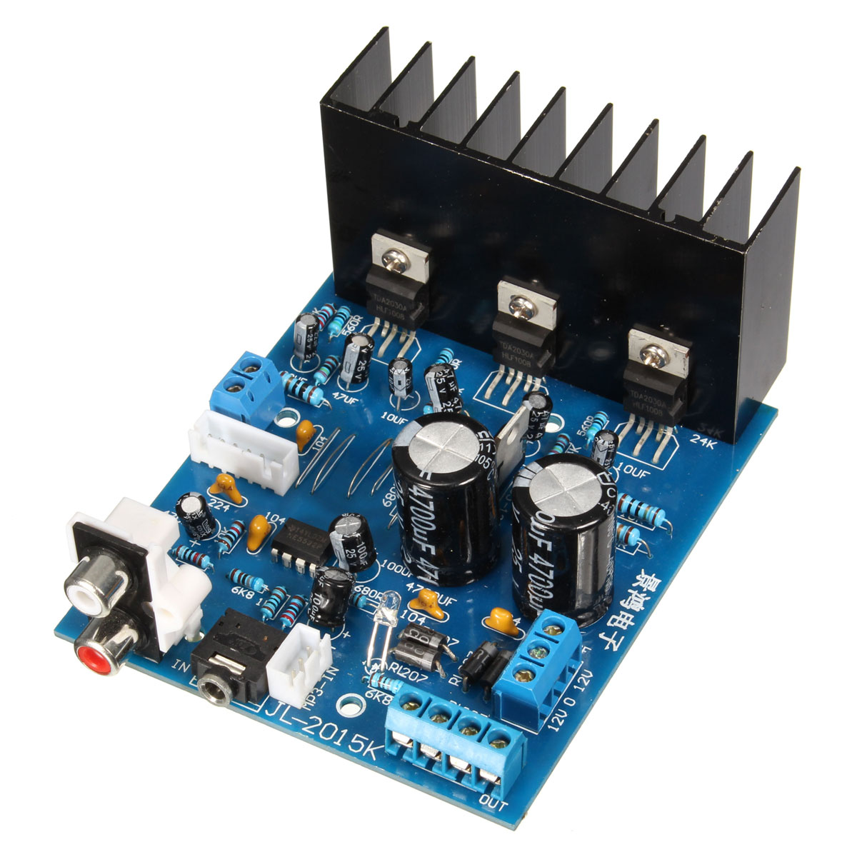 1pcs Tda2030a 21 Subwoofer Amplifier Board Ac 12v 3 Channel Electronics Module 18w 18 W With 6pin Cable In From Consumer On