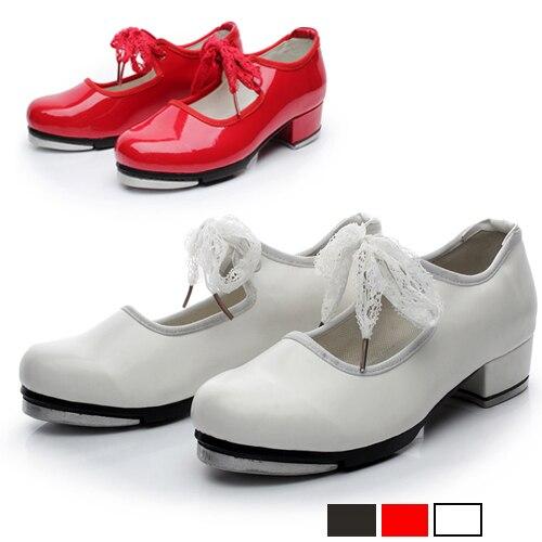 GüNstiger Verkauf Rot Farbe Jugendliche Kind Tap Dance Schuh Qualität Stepdames Schuhe Lehrer Bühne Tippen Tanzen Schuhe Für Kinder Und Mädchen