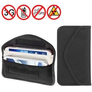 Image 2 - 6 인치 gsm 3g 4g lte gps rf rfid 신호 차단 가방 휴대 전화에 대 한 안티 방사선 신호 차폐 파우치 지갑 케이스