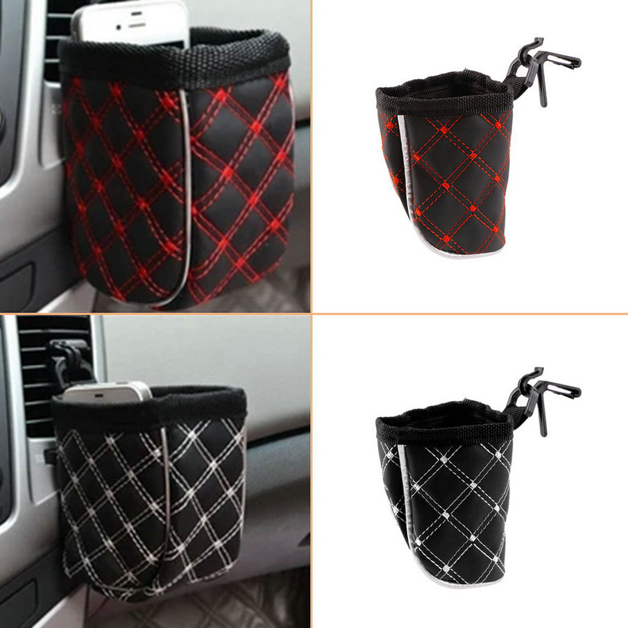 newNew Car Storage Pocket Organizer Bag Light Weight For Mobile Phone Holder Auto Pouch Adhesive Visor Box Car Accessories Hot