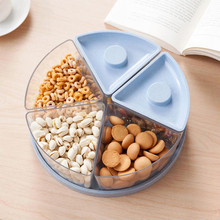 1pc New arrive Candy Snack Nut Holder Compote Tray Dish Decoration Plate kitchen office storage box wheat straw medical kit